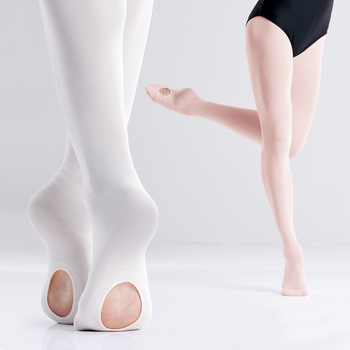 New Arrival Professional Kids Children Girls Soft Microfiber Convertible White pantyhose stockings for Ballet dance girl tights