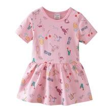 Unicorn Princess Girls Rainbow Dresses Summer Baby Clothes New 2020 Party Dresses for Children Tutu Kids Girls Dress недорого