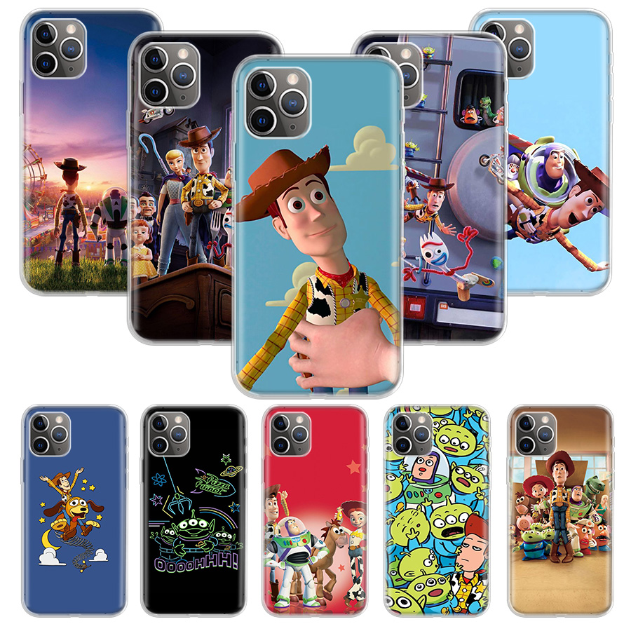 <font><b>Toy</b></font> <font><b>Story</b></font> Case for Apple <font><b>iphone</b></font> 11 Pro XS Max <font><b>XR</b></font> X 7 8 6 6S Plus 5 5S SE 10 Ten Gift Silicone Phone Cover <font><b>Coque</b></font> image