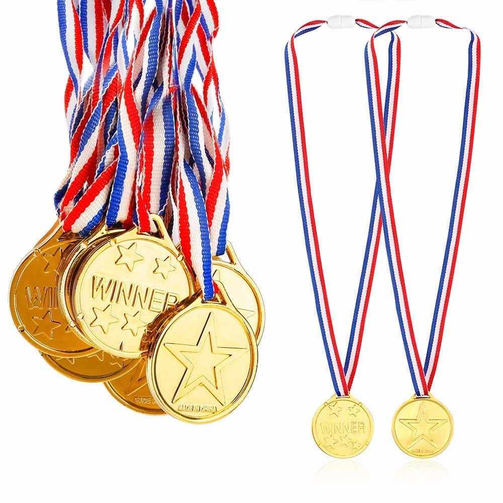 Plastik altın madalyalar uygun fiyatlı plastik çocuk altın çocuk oyun spor ödül ödülleri çocuklar parti eğlenceli fotoğraf sahne malzemeleri Dropship