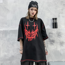 Gothic Oversized Streetwear Tshirt Sloth Summer Clothes Punk Skull Graphic Tees T Shirt Women 2020 Fashion Clothing Tops Trend