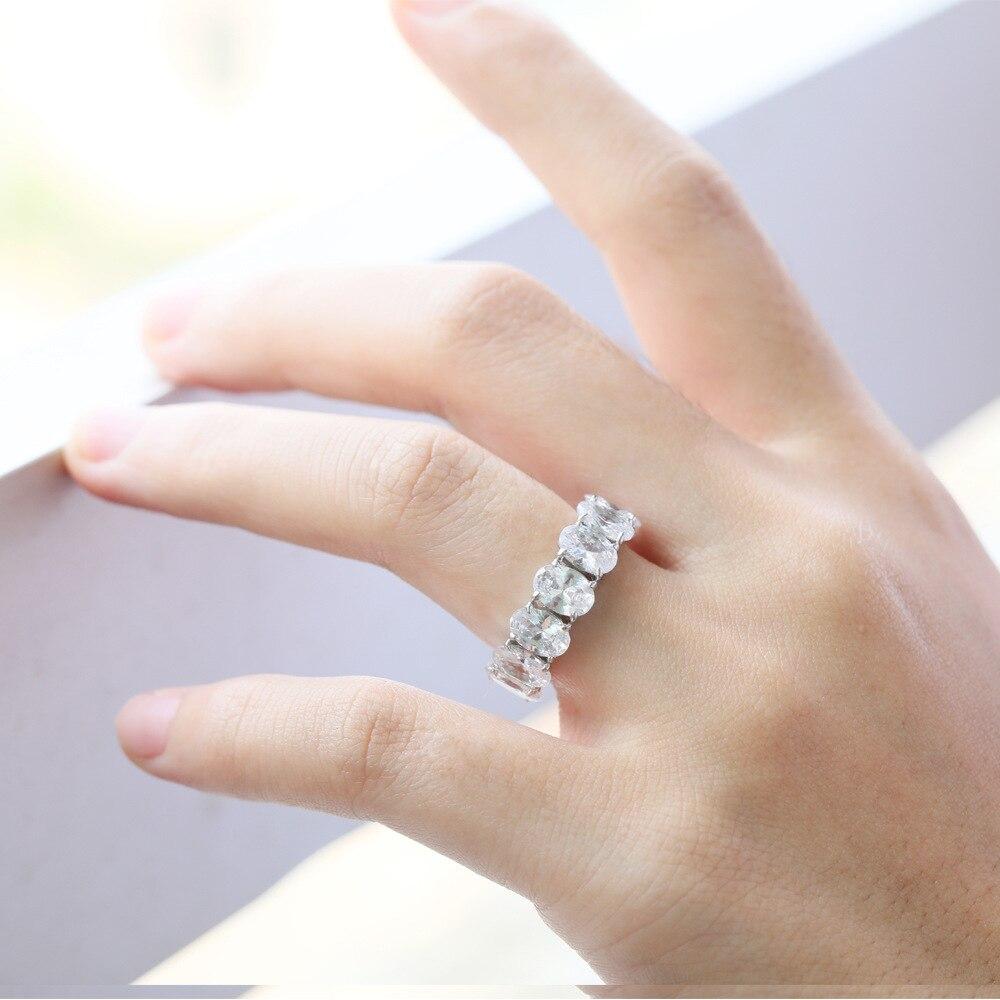 Оптовая продажа, Серебряное 925 Кольцо для женщин, стразы, белый цирконий, обручальное кольцо, роскошное 2019