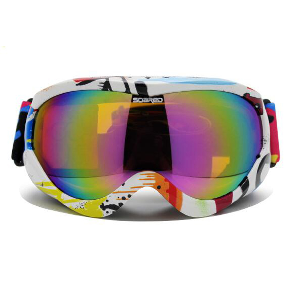 Jeune neige Ski Snowboard lunettes Protection UV Anti buée Double lentille A Ski lunettes Snowboard masque