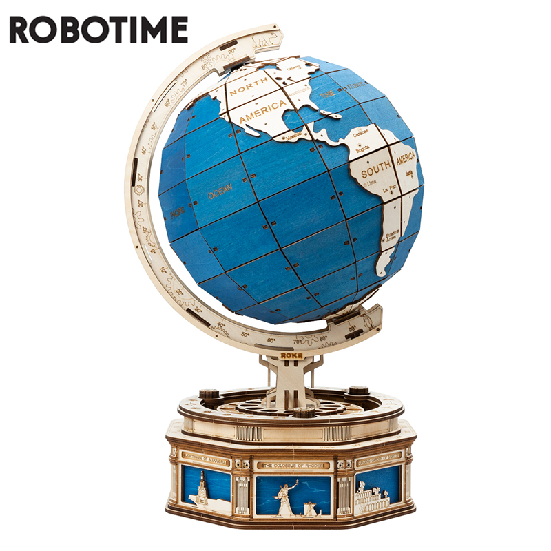 Робовремя 567 шт., большой размер, сделай сам, вращающийся 3D шар, деревянный пазл, игра в сборе, игрушка в подарок для детей, подростков, взрослы