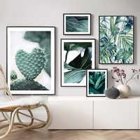 Palm Blätter Wand Kunst Kaktus Leinwand Malerei Monstera Botanische Poster Und Drucke Anlage Wand Bilder Für Wohnzimmer Wohnkultur