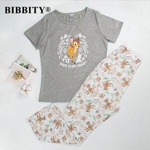 Image 1 - Pigiami per le donne del manicotto del bicchierino di estate delle donne pigiami degli indumenti da notte pigiama di cotone donne carino pigiama set donne pijama mujer verano