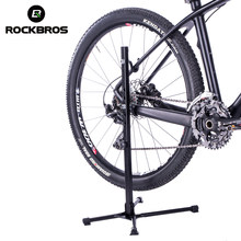ROCKBROS Bicycle Support Aluminum Alloy Height Adjustable Removable Foldable MTB Road Bike Parking Support Bike Repair Stand(China)