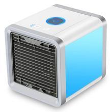 Портативный Usb вентилятор 3 в 1 Регулируемый Кондиционер мини воздушный охладитель, увлажнитель очиститель 7 Led цветов