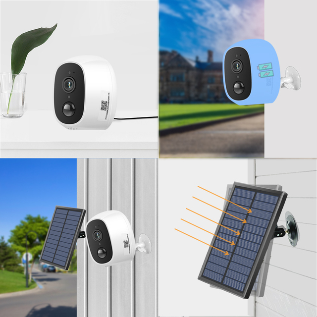 Solar Power Charging Wireless WiFi Camera 1080P 2MP HD Outdoor Security IP Camera Surveillance External Solar Panel 2