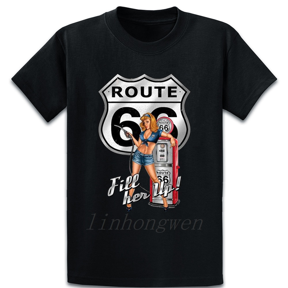<font><b>Route</b></font> <font><b>66</b></font> <font><b>T</b></font> <font><b>Shirt</b></font> Tee <font><b>Shirt</b></font> Design Breathable Spring Pictures Graphic Over Size S-5XL Slim <font><b>Shirt</b></font> image