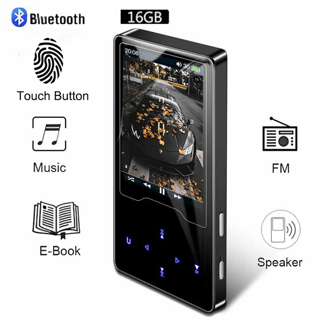 Bluetooth MP3 Speler Video Ultra dunne Touchscreen MP3 Kan Horloge Nove Films Engels MP3 Speler Muziek Walkman MP3 fm Radio