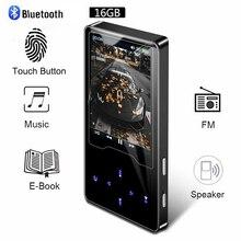 Reproductor de MP3 con Bluetooth, dispositivo de vídeo con pantalla táctil ultrafino, puede ver películas, reproductor de MP3 en inglés, Walkman de música, MP3, Radio Fm