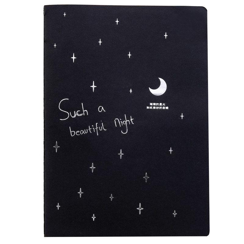 1pcs  Notebook Diary Black Paper Notepad Sketch Graffiti Pen Mini Notepad Drawing Painting Office School Stationery Supply