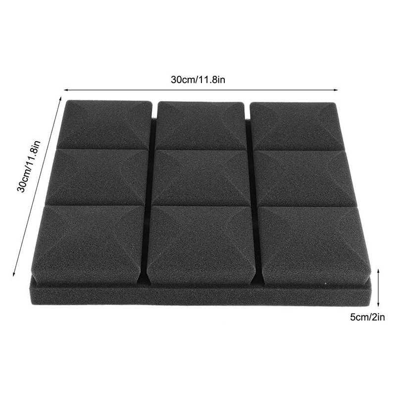 6 قطعة رغوة القطن امتصاص الصوت شكل الفطر عالية الكثافة لوحات الصوتية استوديو عازل للصوت رغوة