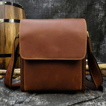 Mens genuine leather shoulder bag Cow small cross body cowhide Man real messenger for tablet