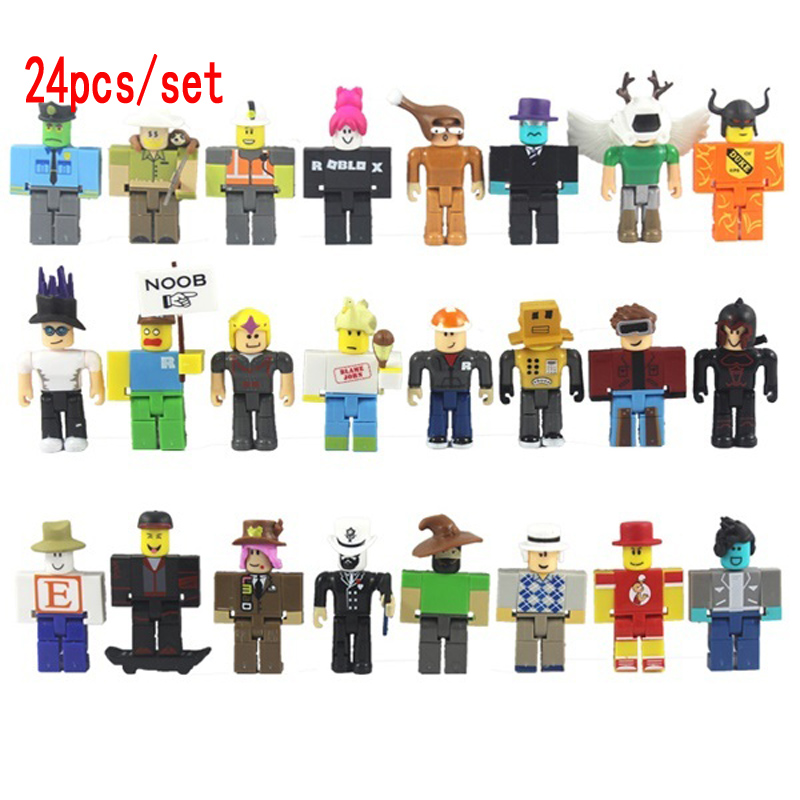 24pcs/set ROBLOX Action Characters Figures 7cm PVC Suite Doll Toys Anime Model Figurines for Decoration Collection Gift for Kids