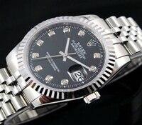 rolex- Luxury Brand quartz women Watches Quartz Watch Stainless Steel Strap wristwatch classic business dress men watch 6442