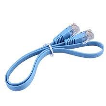 RJ45 CAT6 8P8C Flat Ethernet Patch Network Lan Cable Various Length 0.5M/1M/2M/3M/5M/10M Cable Blue Free Shipping 0 5m 1m 1 5m 2m 3m 5m 10m 1 5ft 3ft 5ft 6ft 10ft 15ft 30ft gold plated cat5e rj45 patch ethernet network cable free shipping
