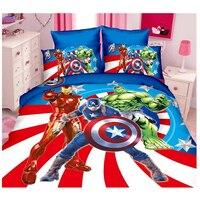 Disney hulk vingadores aliança superman heros spiderman jogo de cama capa edredão folha fronha twin crianças presente aniversário