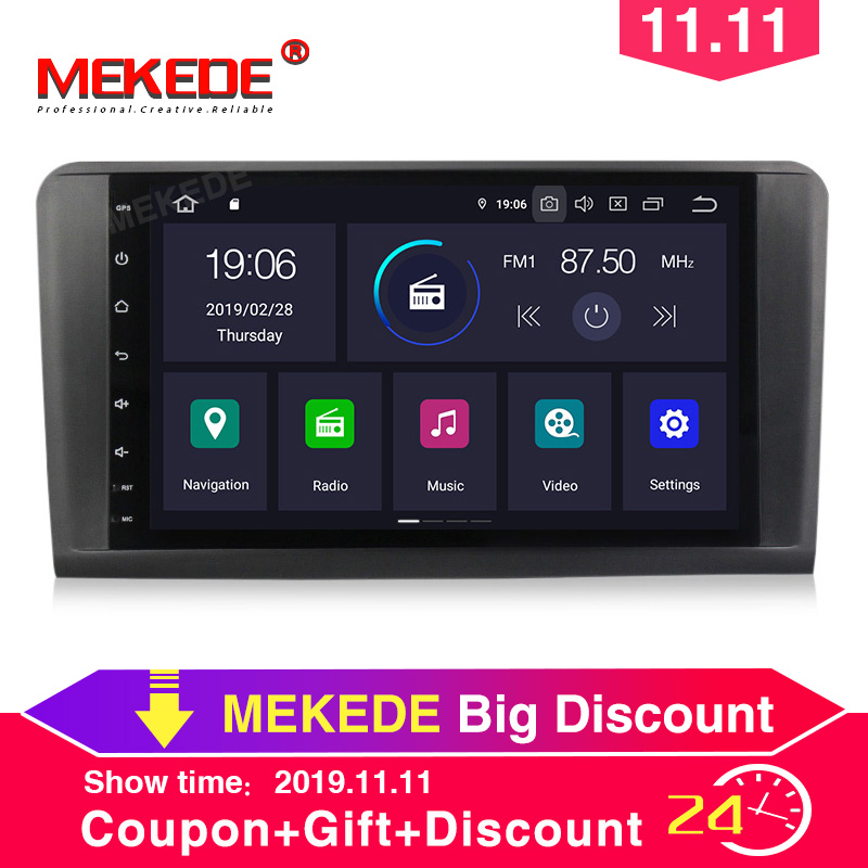PX5 4GB+64GB Android 9.0 Car stereo head unit navigation GPS NAVI multimedia player for <font><b>Mercedes</b></font> Benz <font><b>ML</b></font> CLASS <font><b>W164</b></font> ML350 ML500 image