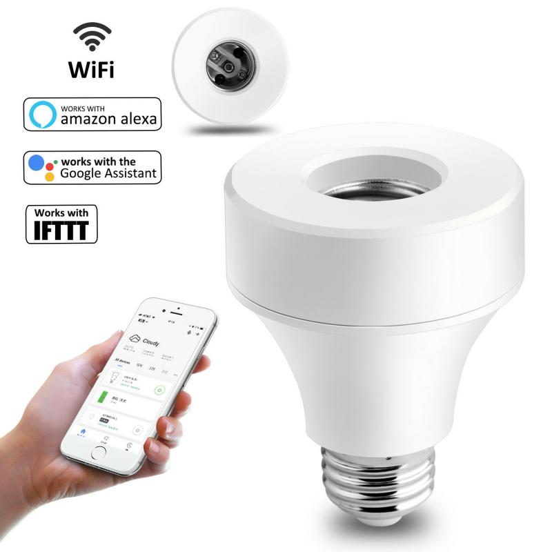 Smart WiFi Light Socket Lamp Holder For E26 E27 Led Bulb Head Base 110V 220V Remote Switch Voice Control Compatible With Alexa