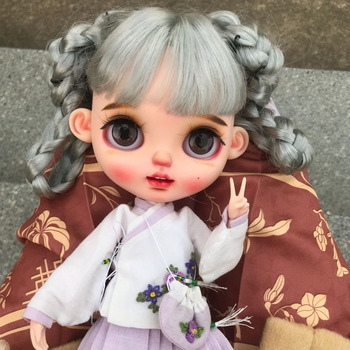 neo Blyth Doll NBL 1/6 BJD Customized Frosted Face,big eyes Fashion girl makeup Ball Jointed Doll with Chinese style