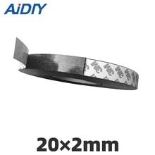 купить Aidiy 1Meter Rubber Magnet 20×2mm strong self adhesive flexible Magnetic Strip Rubber Magnet Tape width 20 mm thickness 2 mm по цене 300.25 рублей