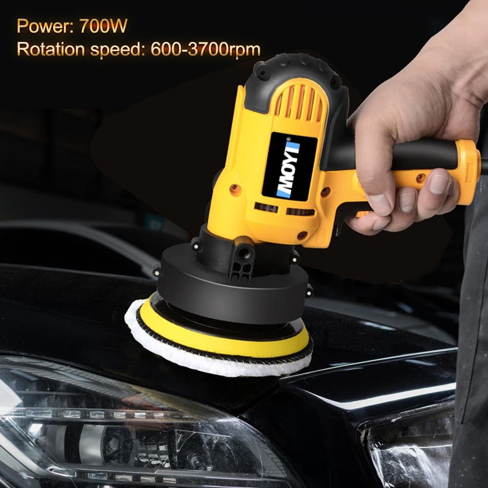 Electric Car Polisher 700W Polishing Waxing Machine Speed Adjustable Auto Car Polisher High Efficiency Power Tool 600-3700rpm