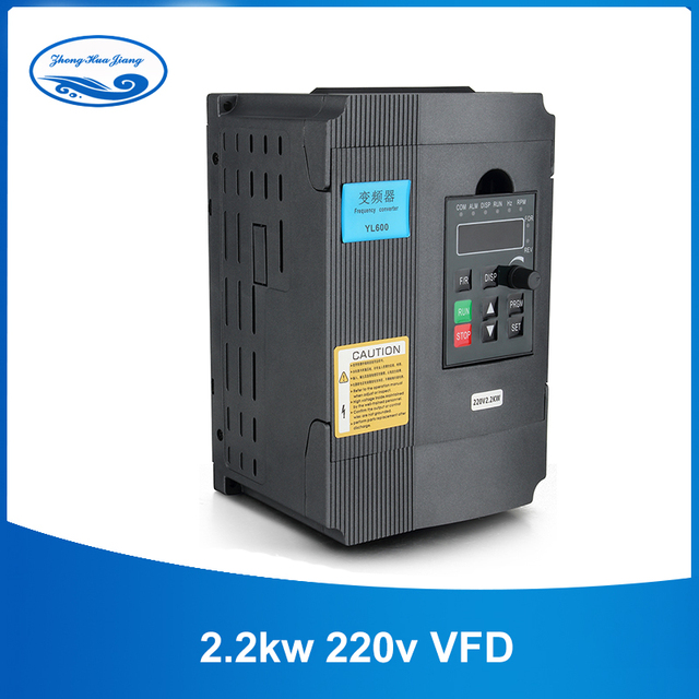 CNC VFD Universal 1.5kw/2.2kw 220V Inverter Single Phase Input Frequency Converter Invertor for Spindle Motor