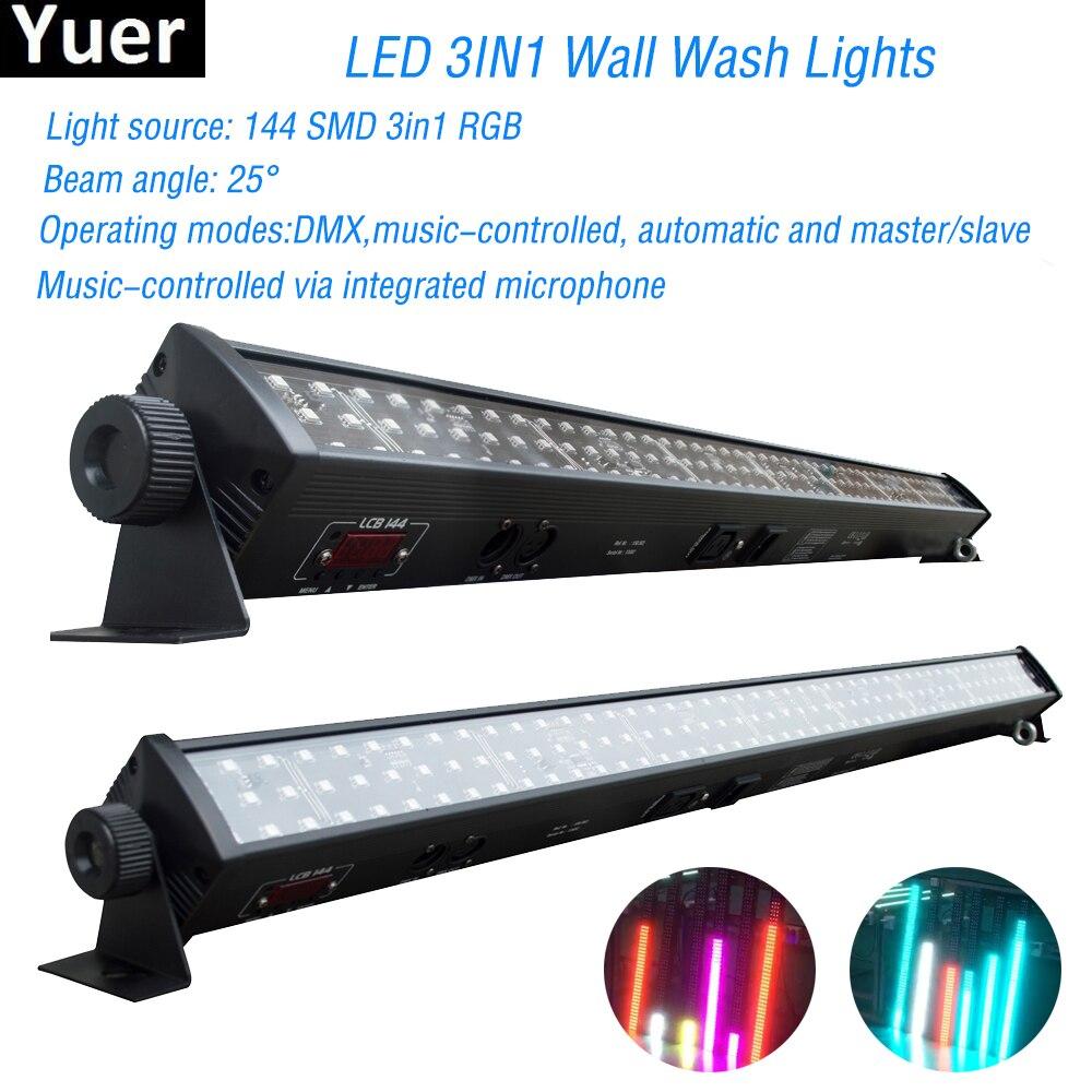 NEW Disco Light RGB 3IN1 Led Wall Wash Light DMX Led Bar DMX Line Bar Wash Stage Light For Dj Disco Led Party Bar Lights
