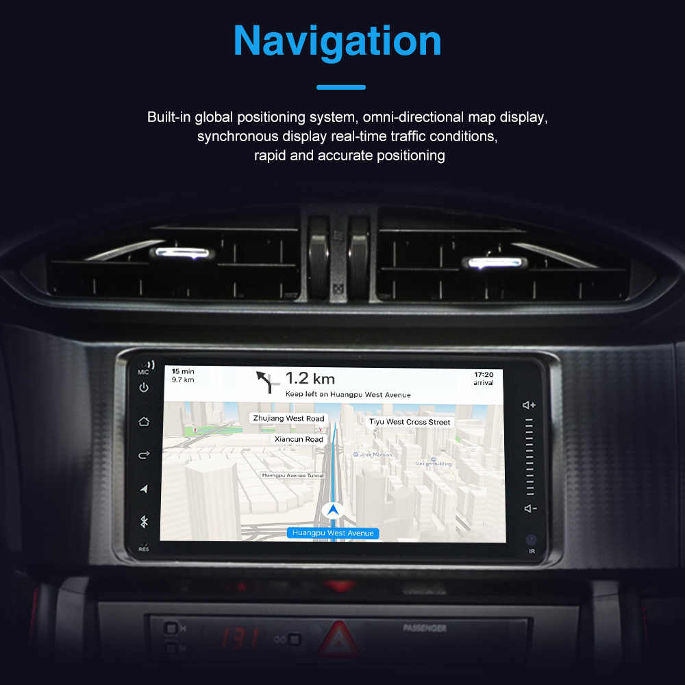 MEKEDE 7 inç araba radyo çalar Android 10 evrensel radyo araba multimedya oynatıcı GPS navigasyon için Nissan Toyota Hyundai Polo kia