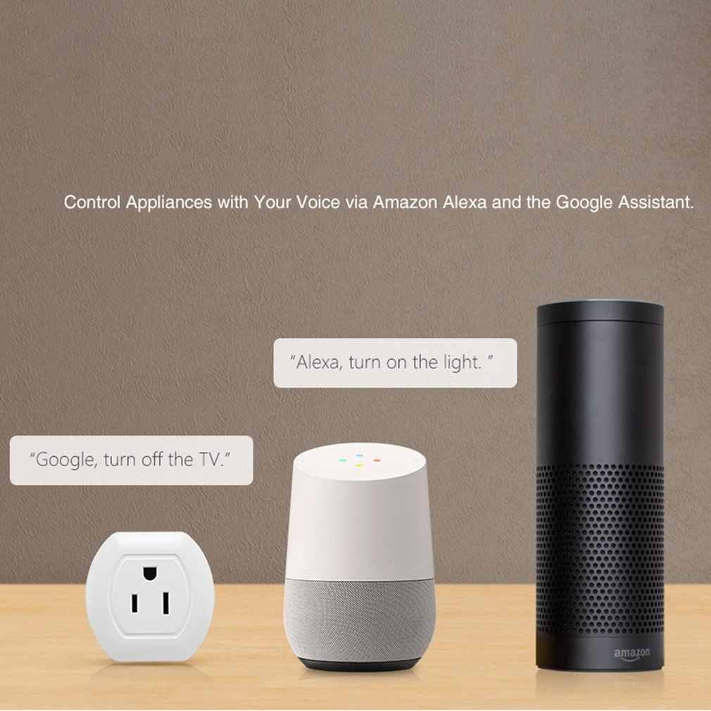 Inteligentne gniazdo WiFi US wtyczka 10A inteligentne gniazdo zdalnego sterowania inteligentny przełącznik czasowy dla automatyki inteligentnego domu