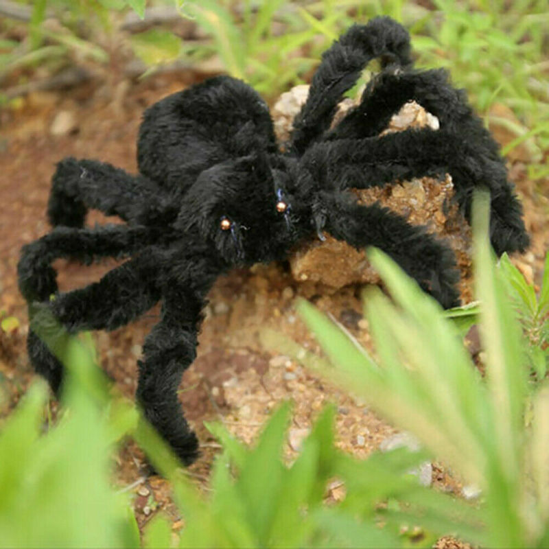 Fake Plush Spider Halloween Props Simulation Realistic Spider Tricky Toys