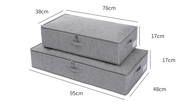 caixa de armazenamento coberto colcha roupas caixa de armazenamento