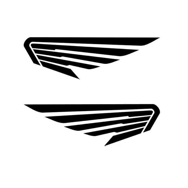 Car Sticker 2X Car Angel Wings Bird Feather Fashion PVC Car Sticker Car Decoration Decal Cover Scratch Black/white, 20cm*6cm