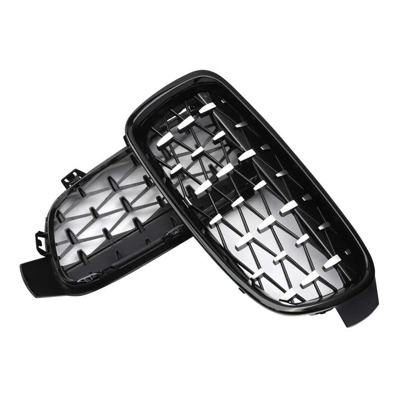 MagicKit 1 Pair For BMW F31 F30 Car Styling Grill M3 Style Kidney Replacement Grille 2012-16 320i 328i 330i 335i Chrome Diamond