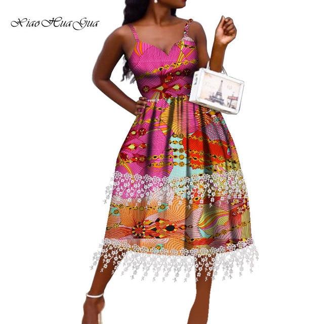 Купить женское платье в африканском стиле модное анкары с открытыми картинки цена