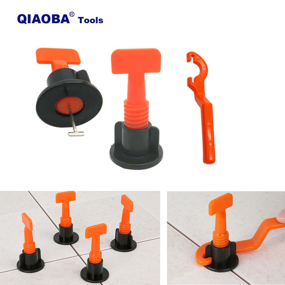 50 Set Reusable Tile Leveling System For Flooring Wall Leveler Locator Spacers