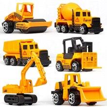 Mini véhicule pelleteuse pour enfants, jouet de Construction, modèle de voiture d'ingénierie, décoration de gâteaux