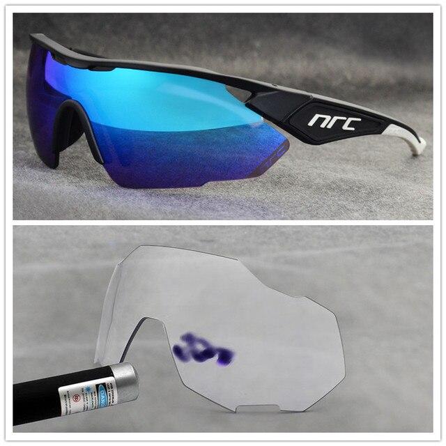 NRC de marca Esportes Ao Ar Livre Óculos de Ciclismo Mountain Bike Ciclismo Goggles UV400 Fotocromáticas Homens Ciclismo Óculos De Sol Eyewear Unisex 6
