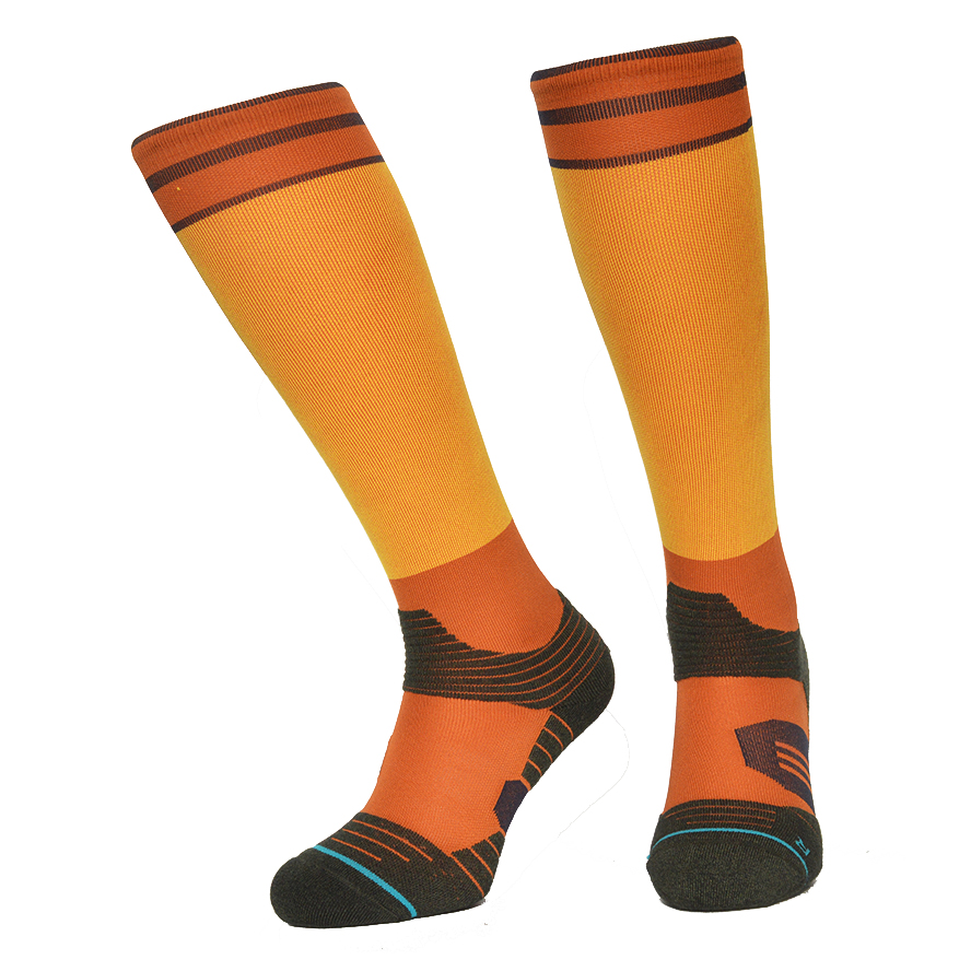 Knee High Cycling Socks Men CoolMax Compression Running Socks Skiing Hiking Outdoor Sports Meias For Men And Women