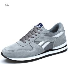 LZJ, мужские кроссовки из натуральной кожи, дышащая повседневная обувь, нескользящая уличная прогулочная обувь, светильник, резиновая подошва, шнуровка