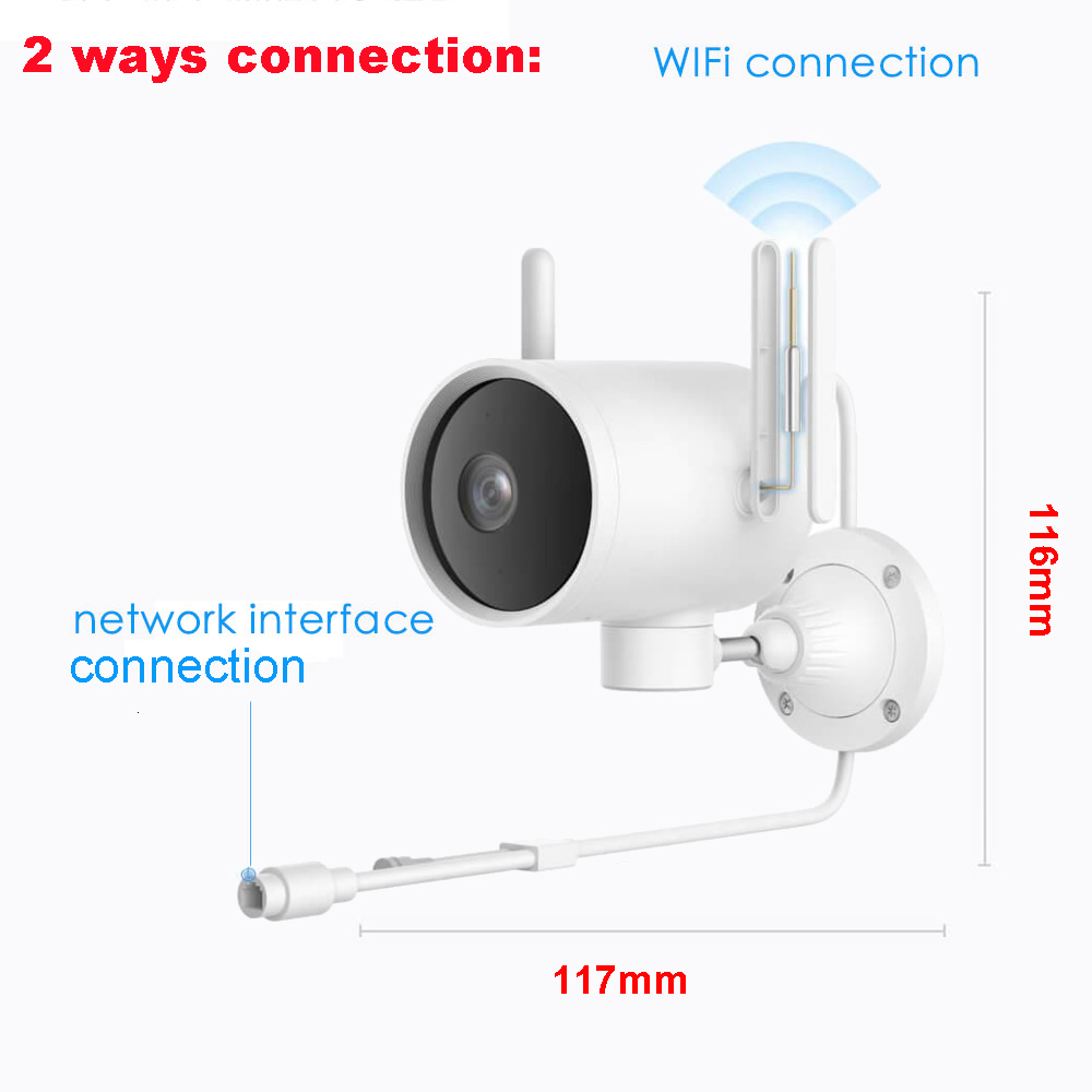Xiaomi Smart Outdoor Camera Waterproof AI Humanoid Detection webcam 270 1080P WIFI H.265