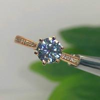 14K Rose Gold Moissanite ring 1ct 2ct 3ct Excellent cut vvs moissanite jewelry Trendy Wedding Engagemen Anniversary Ring