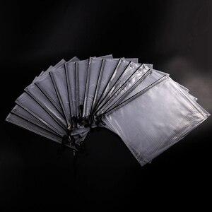 Image 2 - 15 حزمة شبكة زيبر الحقيبة حقيبة مستندات A4 مقاوم للماء وثيقة الحقيبة للمدرسة اللوازم المكتبية ، عبر غرزة تنظيم التخزين