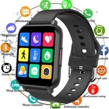 1.55 full touch jogo de toque completo relógio inteligente homem ip67 à prova dip67 água esporte fitness rastreador relógio smartwatch mulher pressão arterial freqüência cardíaca
