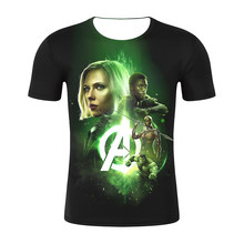 Manga corta Hulk compresión top camisas superhéroe Pantera Negra Superman Anime 3D Punisher camiseta hombres Cosplay camiseta(China)