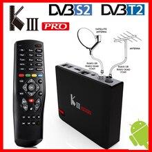 MECOOL KIII PRO DVB T2 DVB S2 DVB C Android 7.1 TV Box 3GB 16GB Amlogic S912 OCTA Core WIFI 4K Combo NEWCAMD Bissคีย์PowerVU