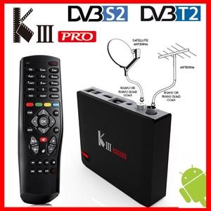 Image 1 - MECOOL KIII PRO DVB T2 DVB S2 DVB C Android 7.1 TV Box 3GB 16GB Amlogic S912 Octa Core Wifi 4K Combo NEWCAMD Biss chiave PowerVU
