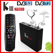 MECOOL KIII PRO DVB T2 DVB S2 DVB C Android 7.1 TV kutusu 3GB 16GB Amlogic S912 Octa çekirdek Wifi 4K Combo NEWCAMD Biss anahtar PowerVU
